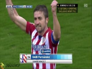 �������� ������ 2-1 ���� ������ / ���� | HD | Atl. Madrid 2-1 Real Madrid - Gabi 45'+1'